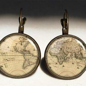 mapa naszyjniki brązowe świata - medalion z