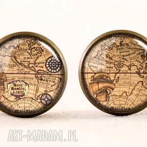 unikatowe naszyjniki świata mapa - medalion