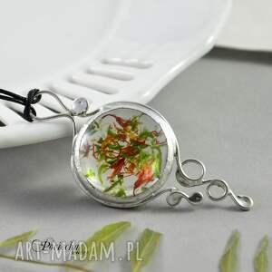 naszyjniki terrarium marchewka z groszkiem - wisior