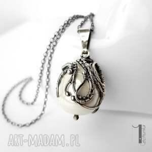 naszyjnik naszyjniki białe margaritari srebrny