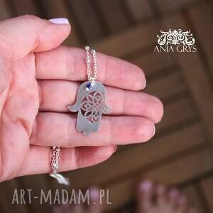 naszyjniki: Marokańskie Inspiracje - Amulet Ręka Fatimy chamsa