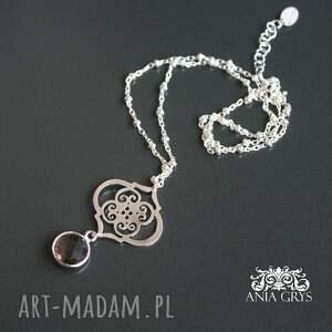 brązowe naszyjniki marokańskie inspiracje z kwarcem