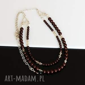oryginalne naszyjniki perły maroony - naszynik