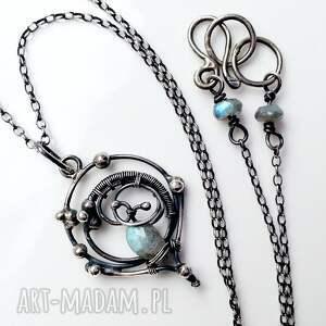 elegancki naszyjniki niebieskie marzyciel - moon