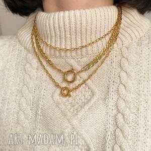 ręcznie zrobione naszyjniki łańcuch masywny naszyjnik z różowego złota
