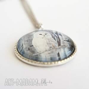 LiliArts naszyjniki: Medalion, naszyjnik - Biała sowa