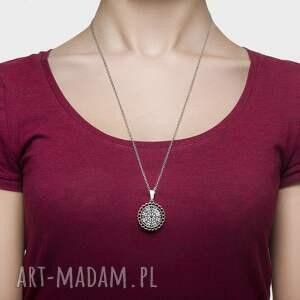 naszyjniki folk medalion okrągły mały klasyczna