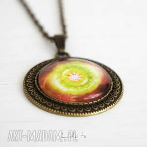 niepowtarzalne naszyjniki medalion, talizman - czakra serca