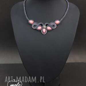 różowe naszyjniki naszyjnik ~mela~ sutasz senez