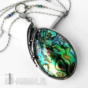 naszyjniki metaloplastyka mermaid heart srebrny naszyjnik