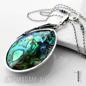 naszyjniki minimalistycznu mermaid heart srebrny naszyjnik
