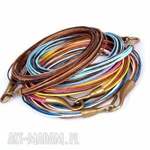 modne naszyjniki naszyjnik miedziany z niebieskim agatem c277