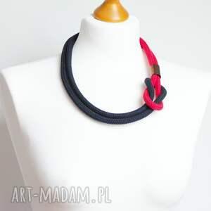 handmade naszyjniki naszyjnik minimalistyczny lniany