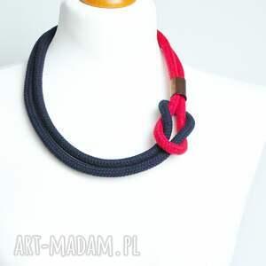 czerwone naszyjniki naszyjnik minimalistyczny lniany