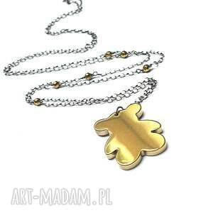 złote naszyjniki srebro miś /złoty/ - naszyjnik