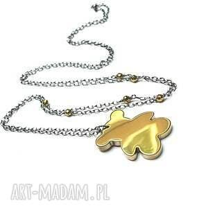 hand made naszyjniki srebro miś /złoty/ - naszyjnik