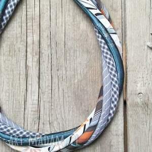 naszyjniki naszyjnik modny z kolorowych tkanin