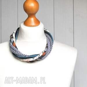 naszyjniki modny naszyjnik z kolorowych tkanin