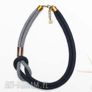 szare naszyjniki modny naszyjnik z liny