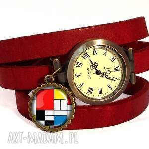 ręcznie wykonane naszyjniki mondrian - medalion z łańcuszkiem