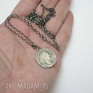 ciekawe naszyjniki srebro moneta - naszyjnik