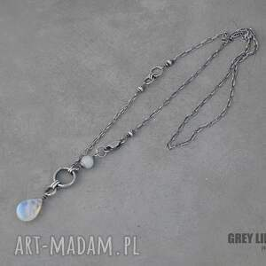 hand made naszyjniki srebro moonstone naszyjnik