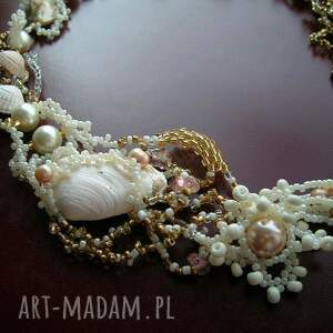 handmade naszyjniki muszle morskie opowieści - kolia