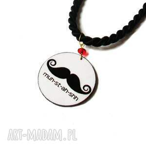 efektowne naszyjniki naszyjnik moustache 2w1
