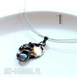 srebro naszyjniki srebrne mymoon - naszyjnik miedź i