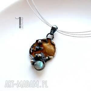 złote naszyjniki miedź mymoon - naszyjnik i srebro z