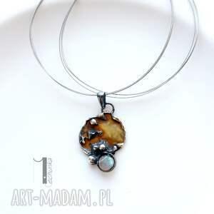 handmade naszyjniki srebro mymoon - naszyjnik miedź i