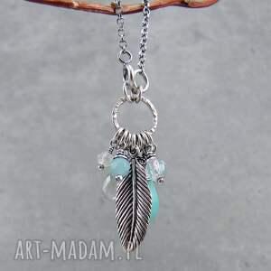 boho naszyjniki turkusowe na skrzydłach wolności