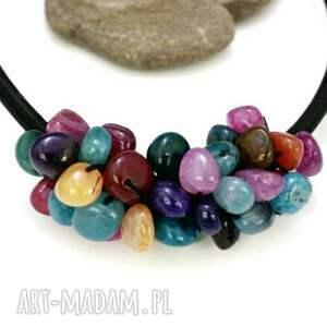 handmade naszyjniki naszyjnik agat kolorowy