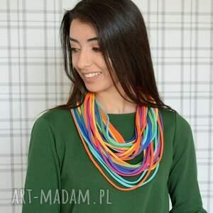 hand made bawełna naszyjnik bawełniany color light