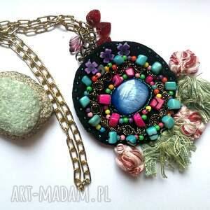 etno naszyjniki naszyjnik boho haftowany koralikowy