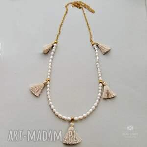 handmade naszyjniki korale naszyjnik boho z perełek