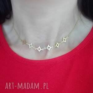 naszyjniki naszyjnik choker gwiazdki srebro