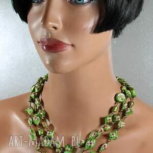 eleganckie naszyjniki korale naszyjnik cloisonne zielony