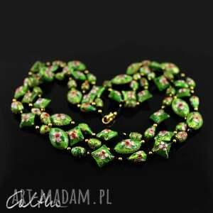 eleganckie naszyjniki naszyjnik cloisonne zielony