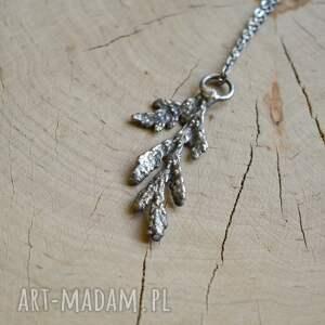 handmade naszyjniki biżuteria roślinna gałązka cedru - naszyjnik