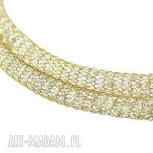 naszyjnik gold crystal tube & key - kryształki zloto