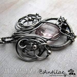 naszyjniki kalpeus - kwarc, spinel, srebro