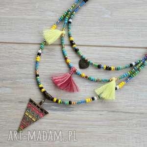 wyjątkowe naszyjniki kolorowy naszyjnik kaskadowy w stylu boho