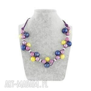 naszyjniki kobalt naszyjnik - kobalt,żółty i fiolet
