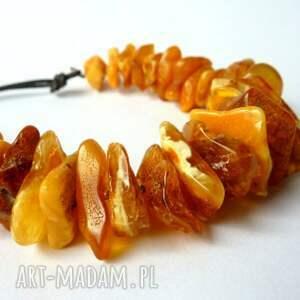 pomarańczowe naszyjniki bursztyny naszyjnik kolia z miodowego