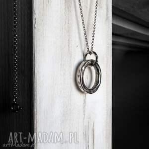 naszyjniki srebrny naszyjnik kółko karmy (krótszy)