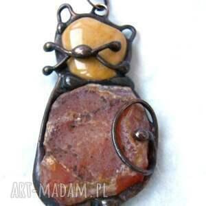 ręcznie wykonane naszyjniki naszyjnik: kot z karneolem