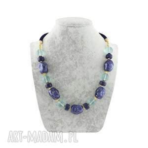 wyjątkowe naszyjniki lapis lazuli naszyjnik - szkło