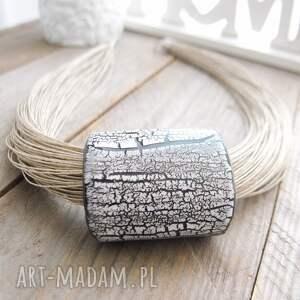srebrne naszyjniki naszyjnik ceramiczny lniany turna