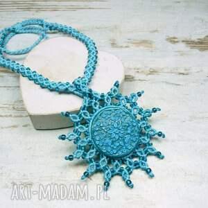 handmade naszyjniki makrama naszyjnik maroko w przepięknych
